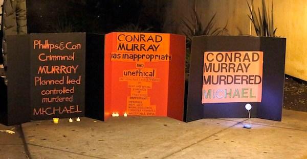 conrad murray protests