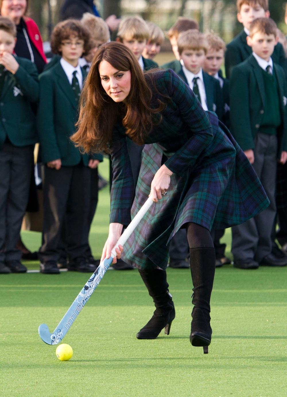 kate middleton plays field hockey
