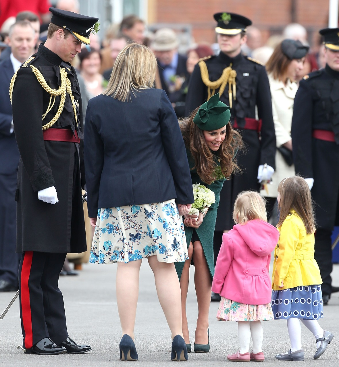 kate middleton prince william baby st. patrick's day