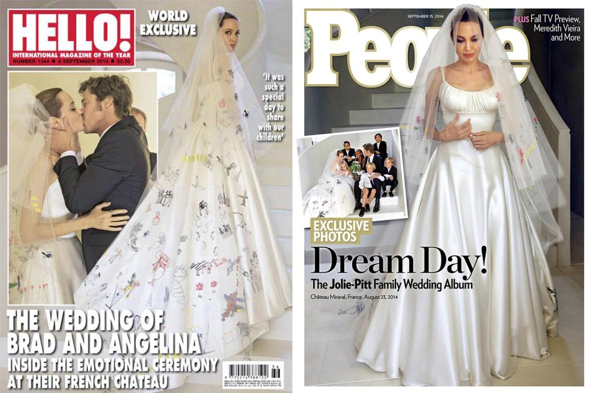 brad and angelina wedding mag covers