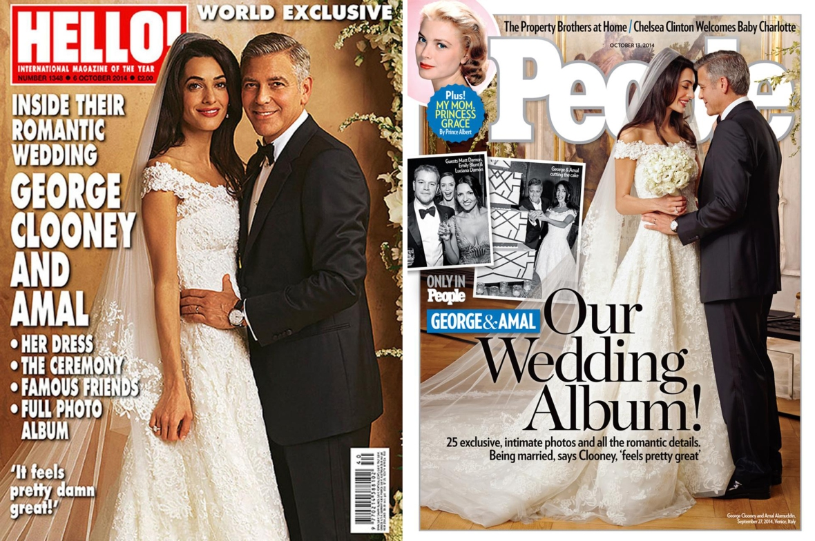 george and amal wedding mag covers