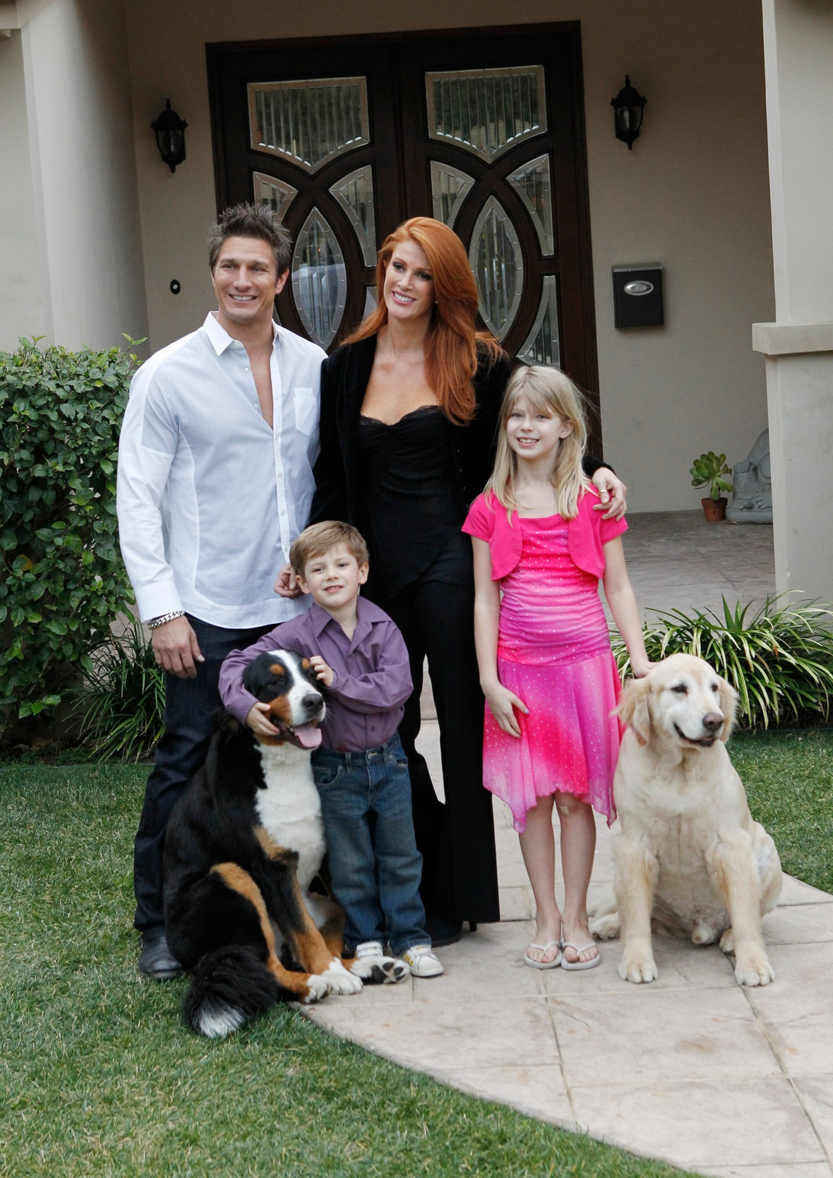 angie everhart & family