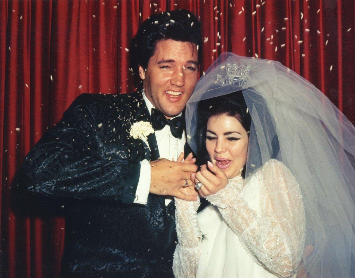 elvis & priscilla presley wedding
