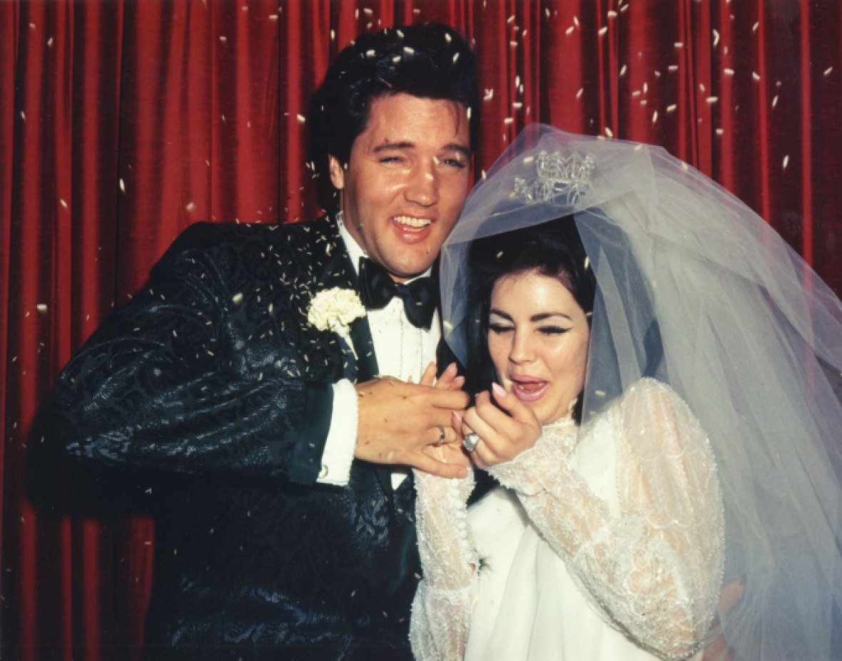 elvis & priscilla presley wedding