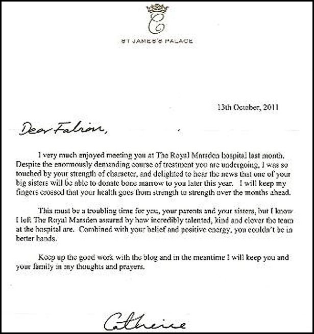kate middleton letter 2