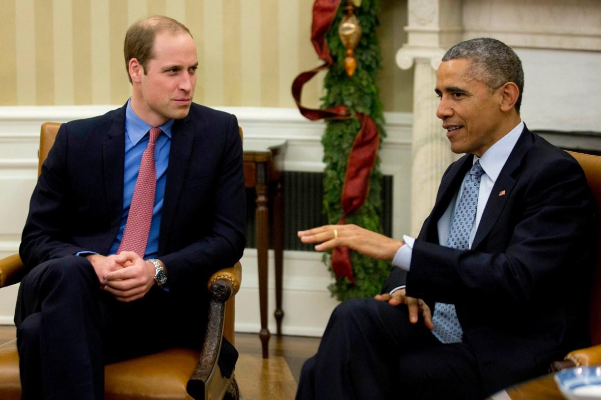 prince william and president obama