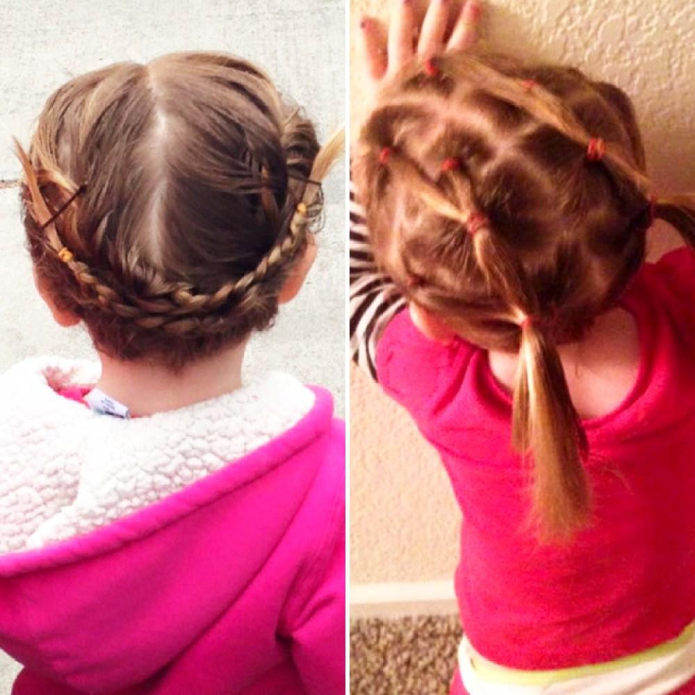 dad, daughter hair