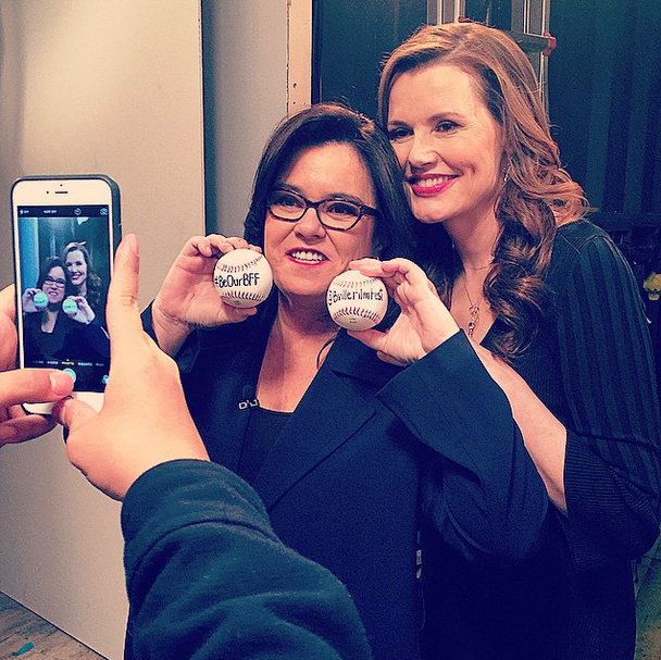 rosie o'donnell and geena davis