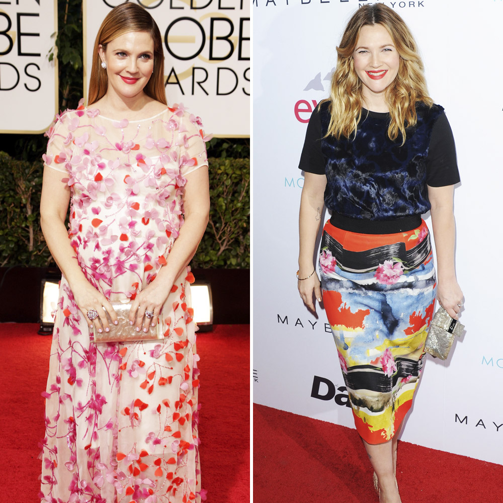 drew barrymore pregnancy weight