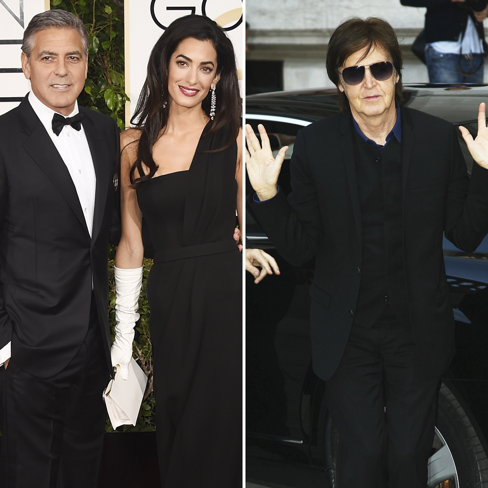 george and amal clooney, paul mccartney