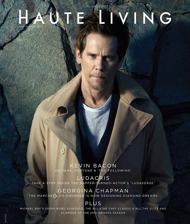 kevin bacon 'haute living' magazine