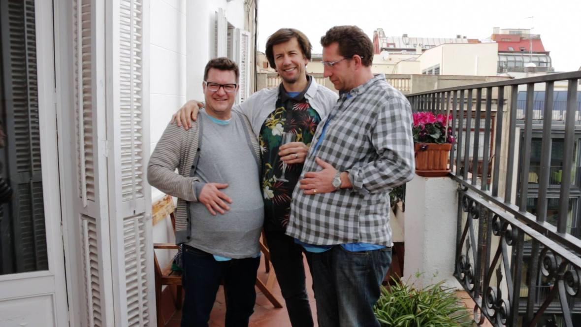 three pregnant dads