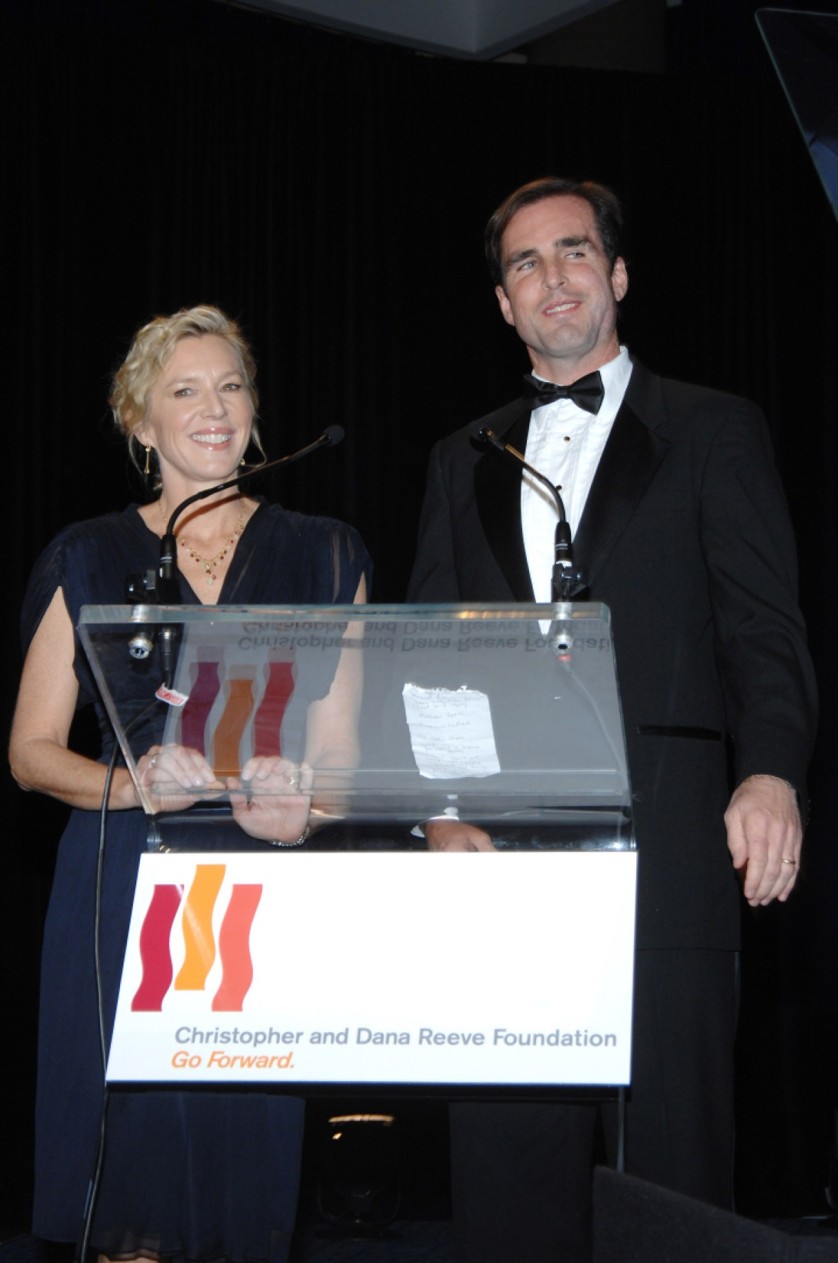 bob woodruff and lee woodruff at the christopher reeve foundation