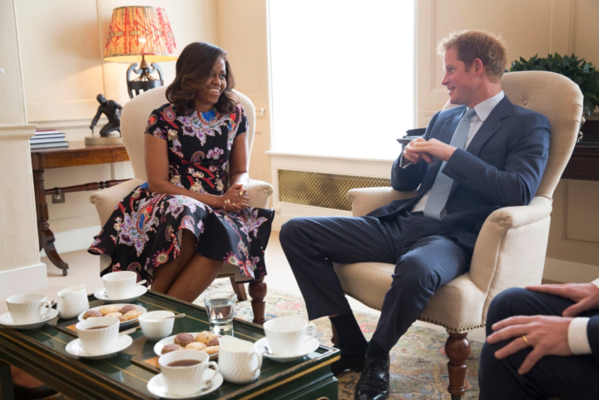 michelle obama with prince harry