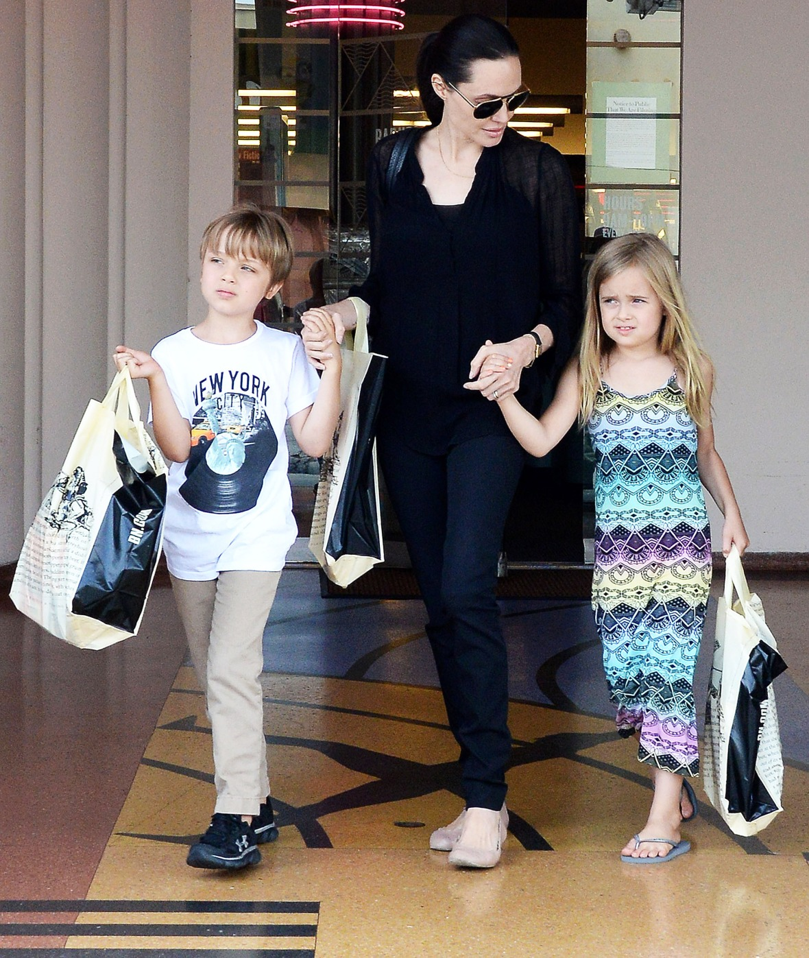 Angelina Jolie Goes Birthday Shopping With Twins Knox And