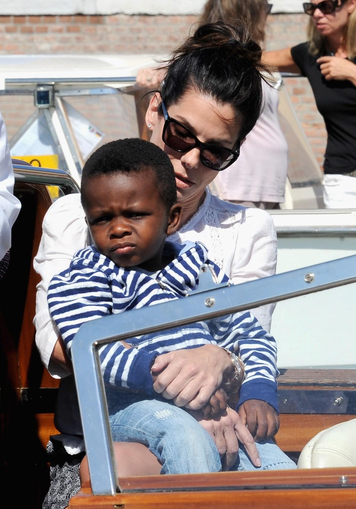 sandra bullock with son