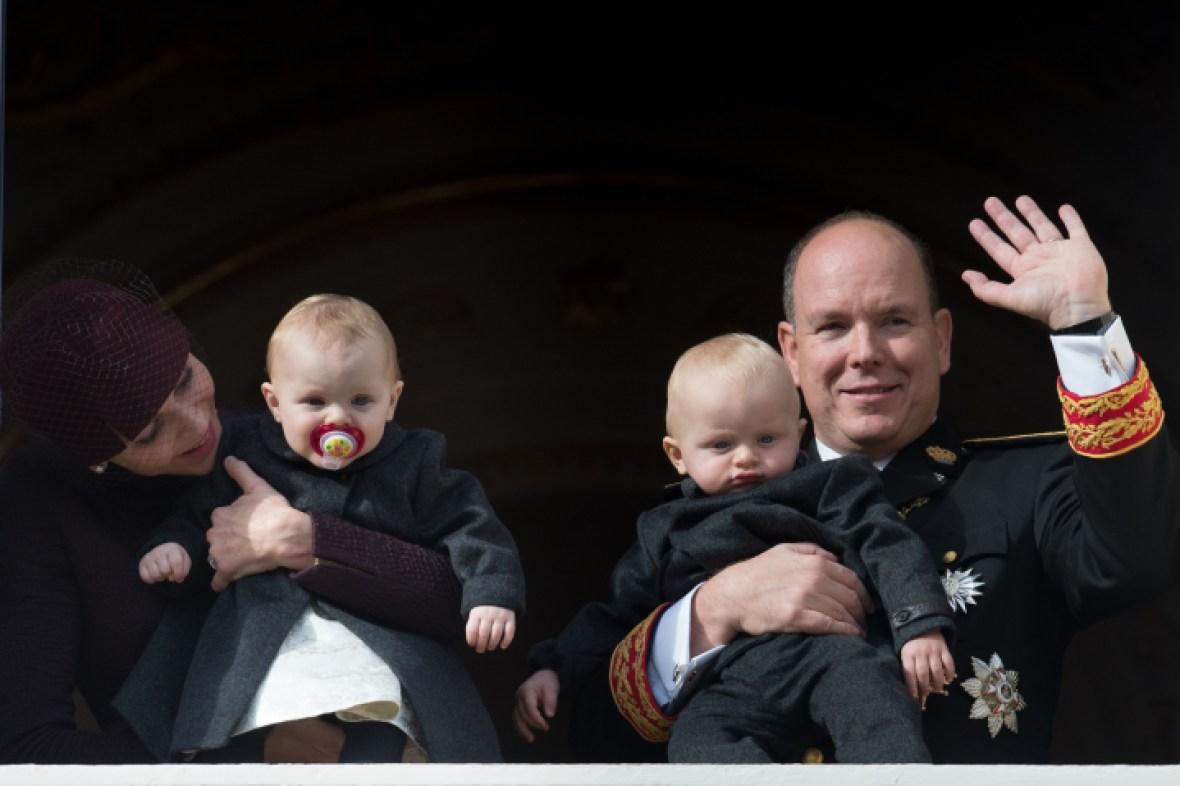 prince albert, princess charlene and the twins