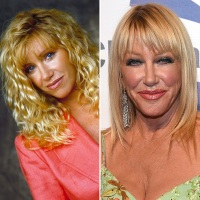Suzanne Somers then and now