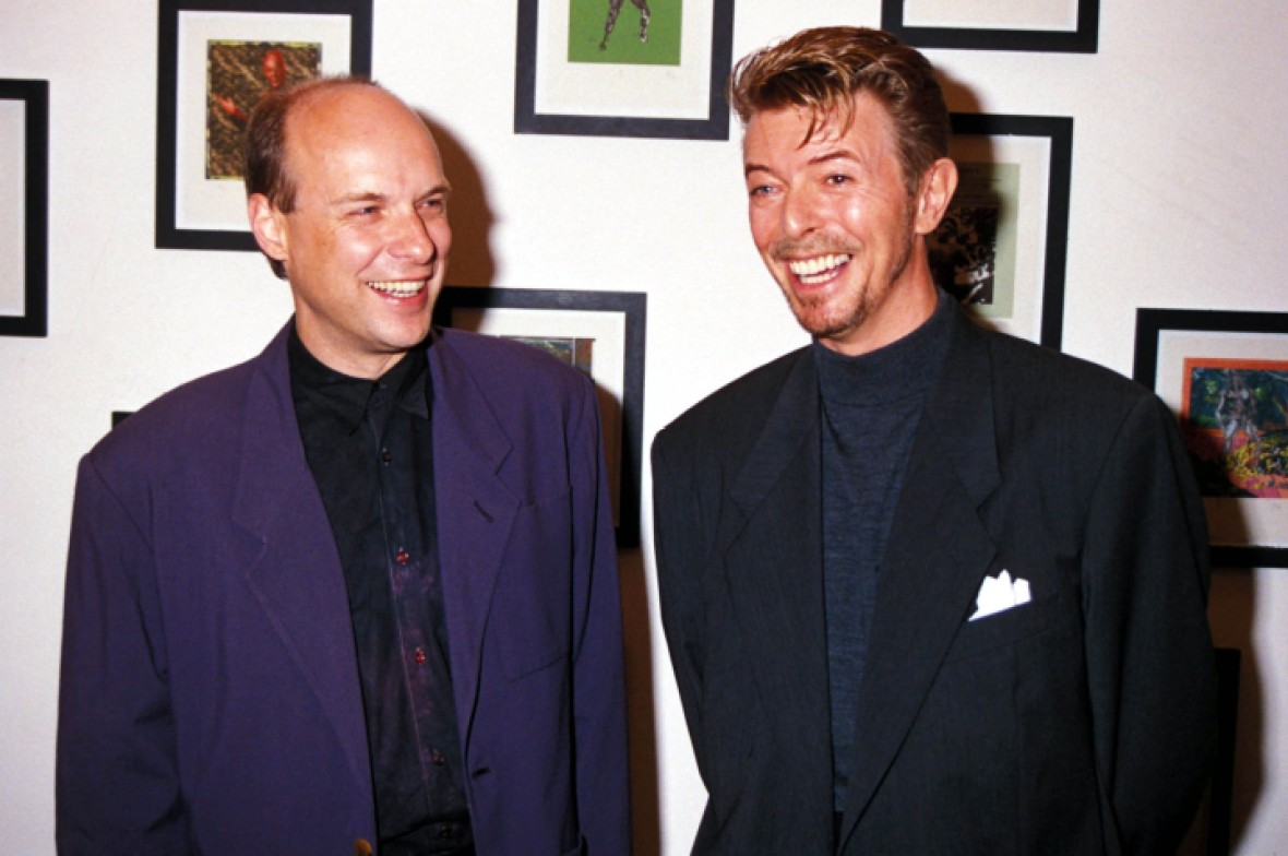 brian eno and david bowie - getty images
