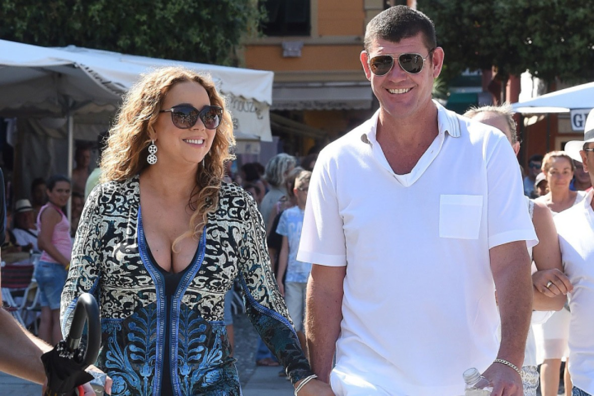mariah carey and james packer - getty