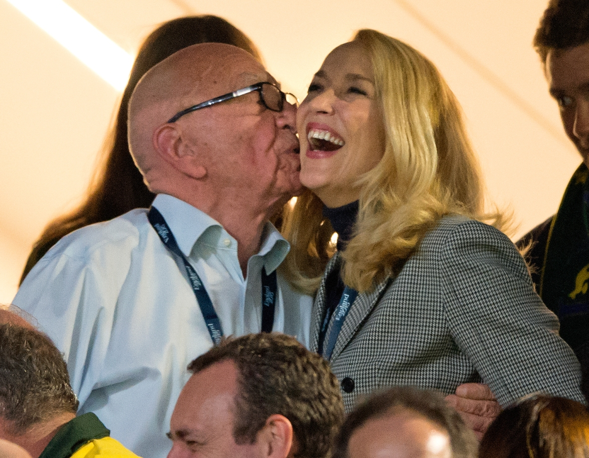 jerry hall and rupert murdoch - getty images