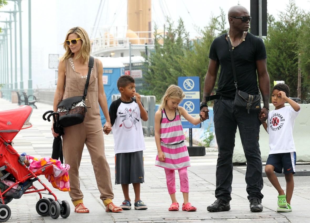 heidi klum family getty images