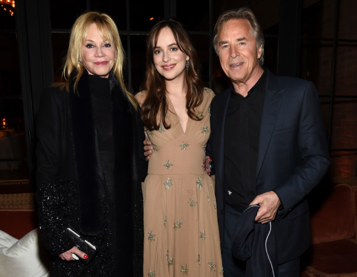 melanie griffith don johnson dakota johnson getty images