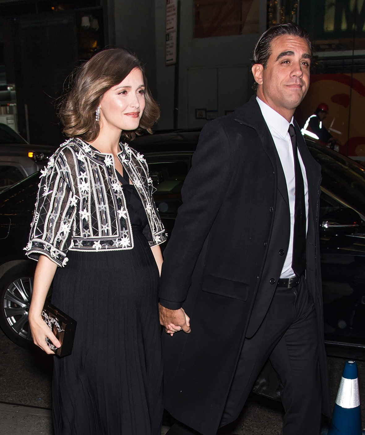 rose byrne pregnant and bobby cannavale nove 2015 getty