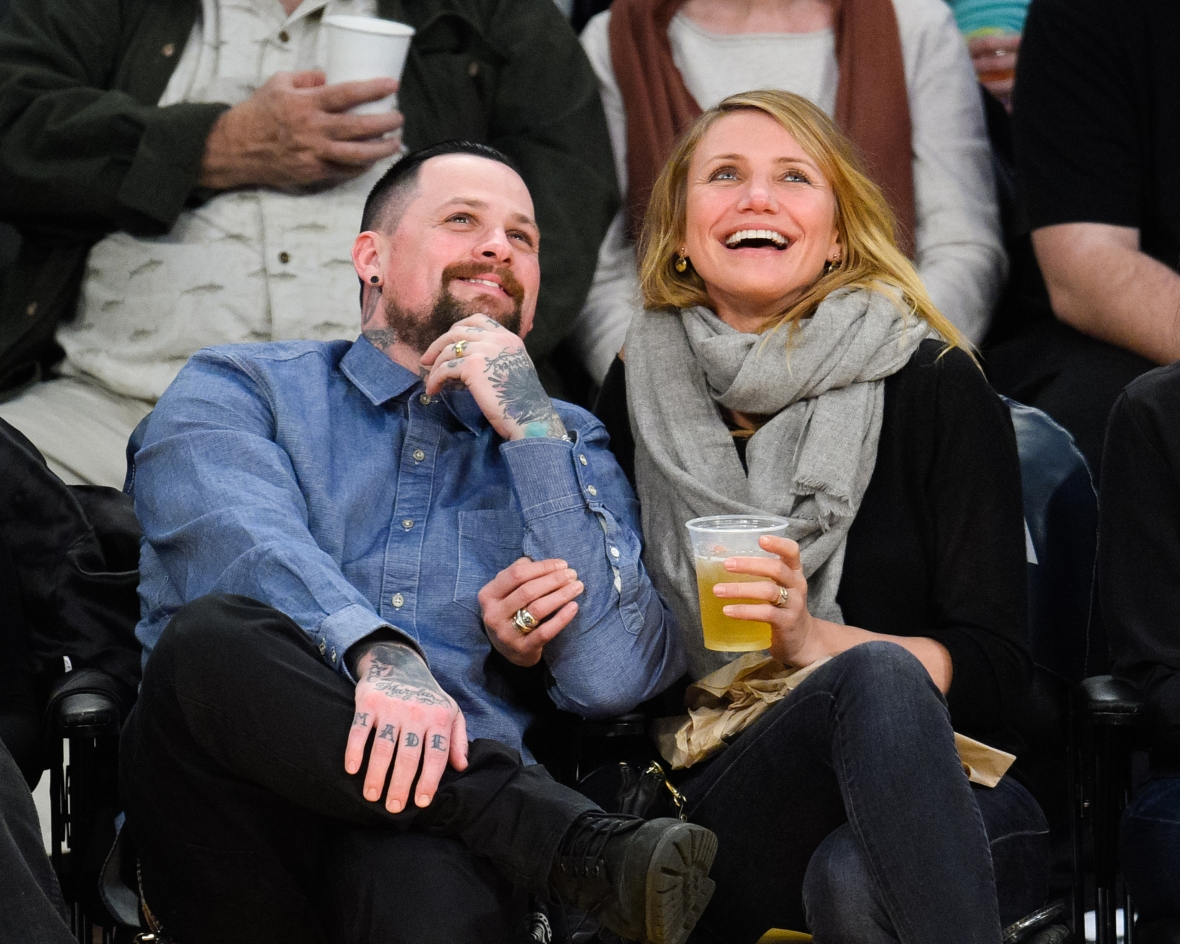 cameron diaz benji madden getty images