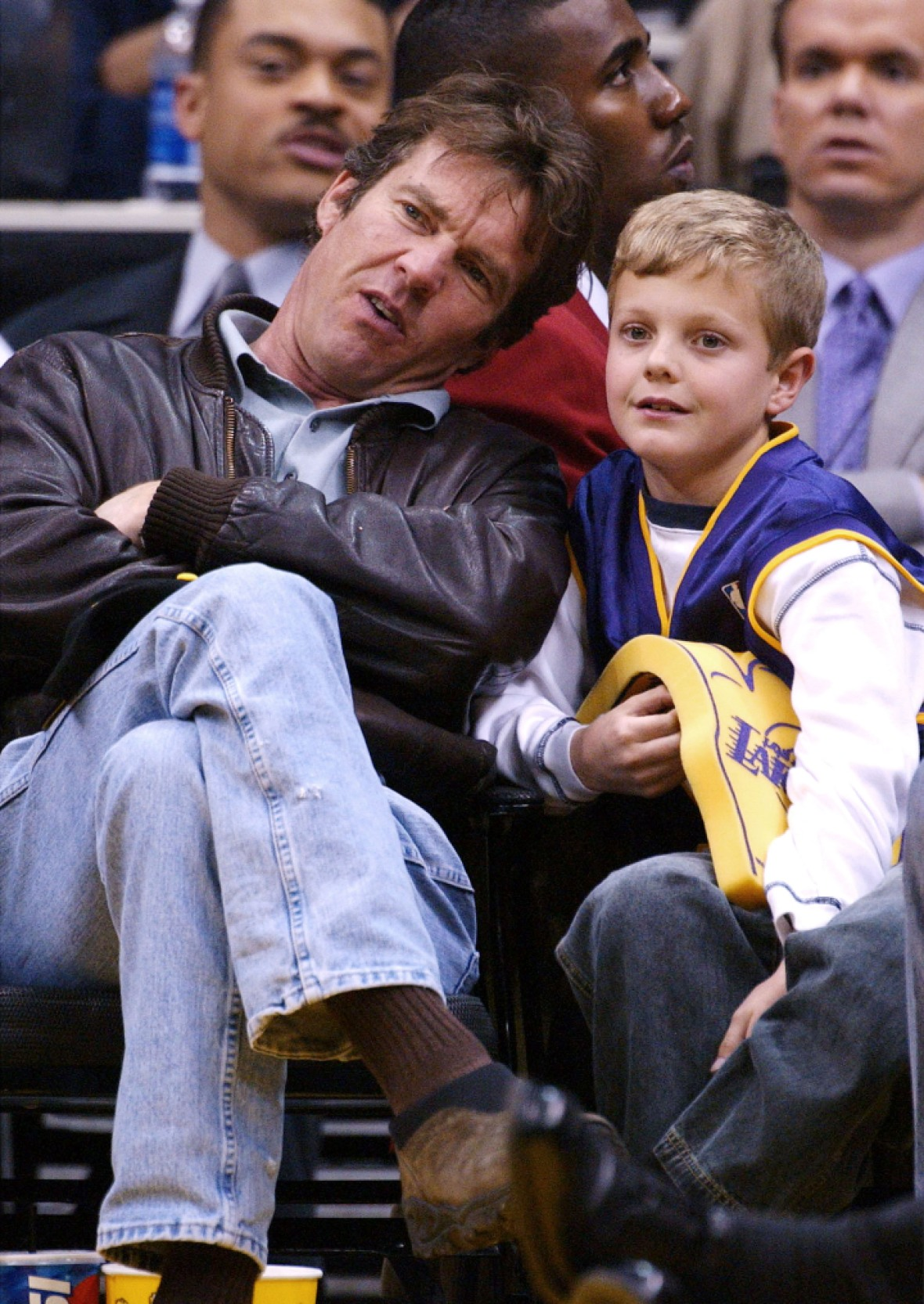 dennis quaid jack quaid getty images