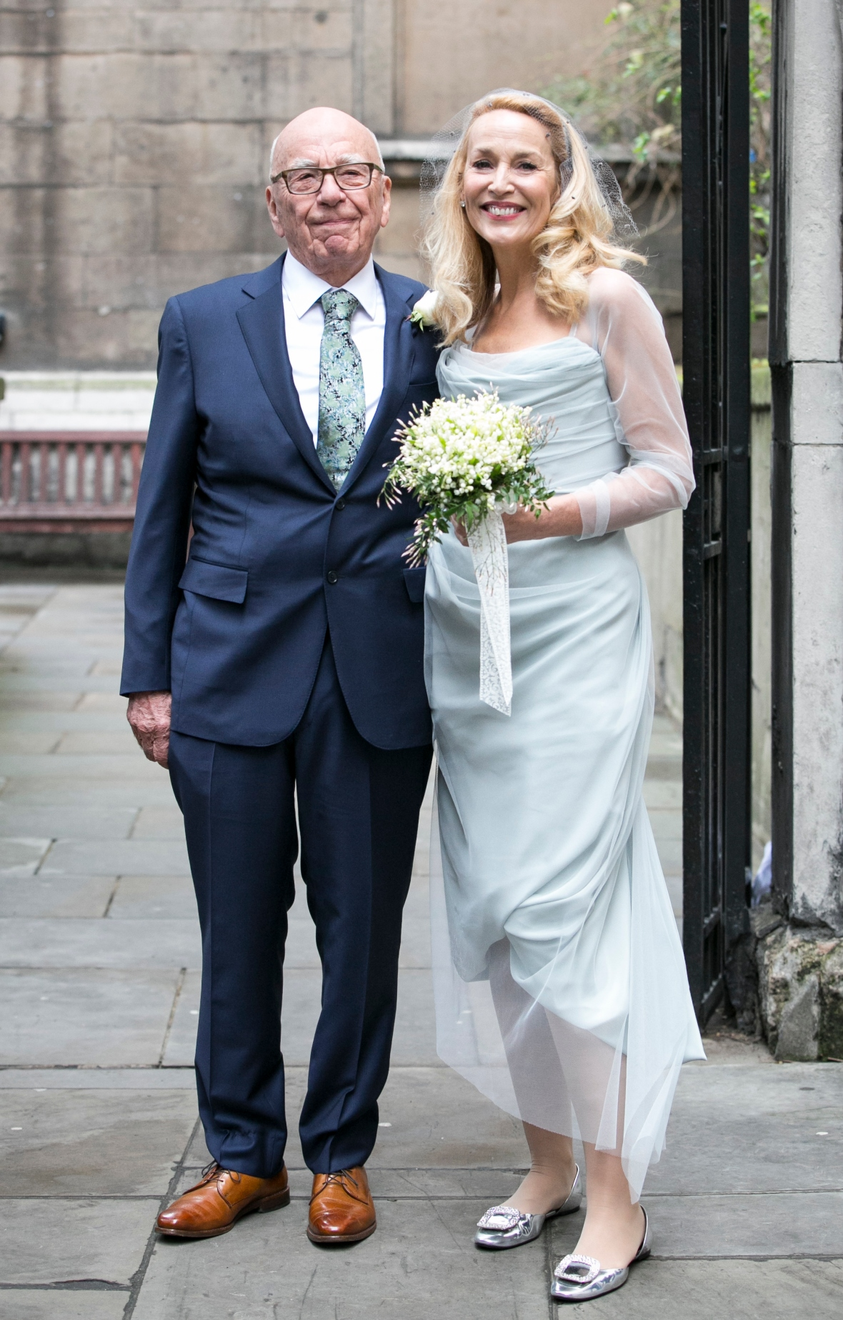 rupert murdoch jerry hall wedding getty