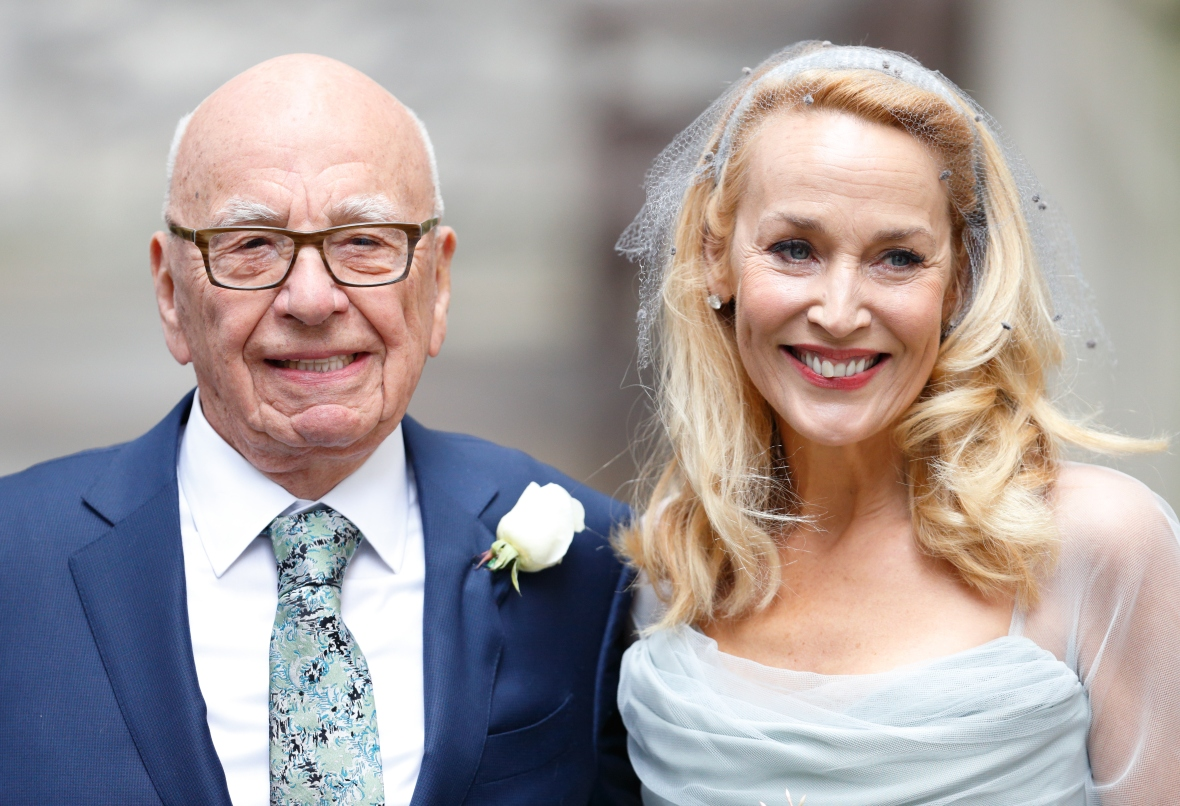 rupert murdoch jerry hall wedding getty 2
