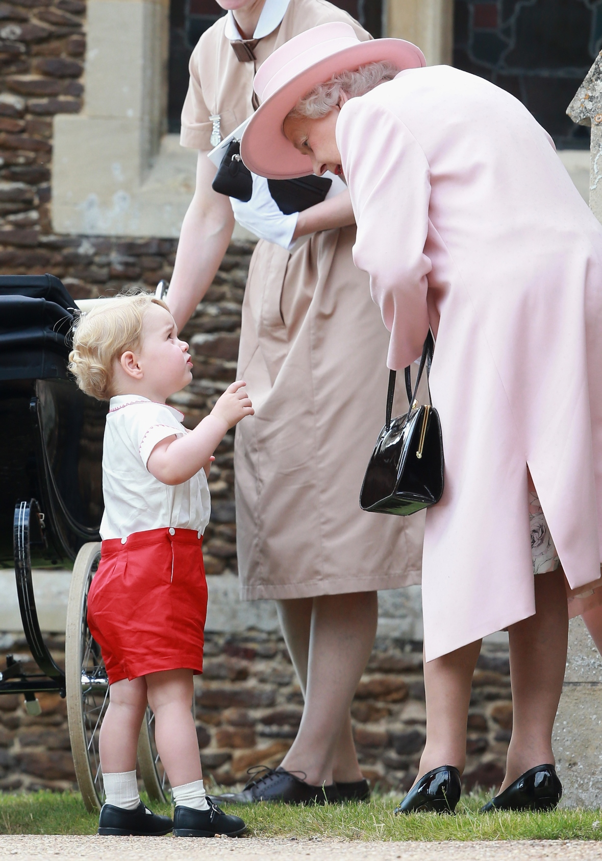 prince george queen elizabeth getty images