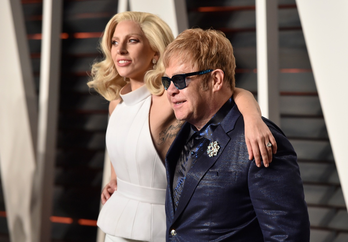 elton john lady gaga getty images