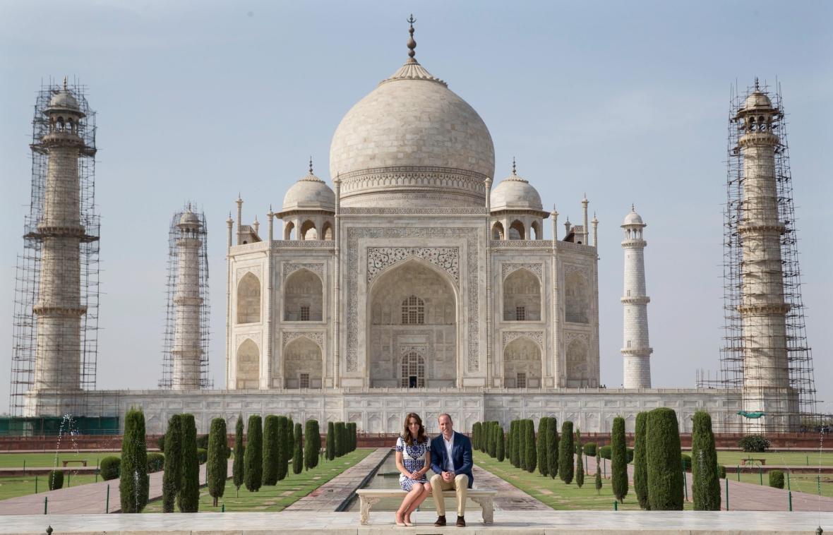 kate middleton prince william taj mahal (getty)