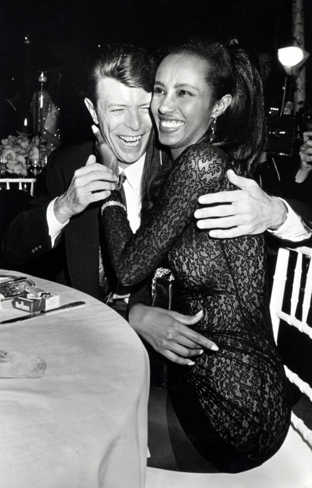 david bowie and iman (getty images)