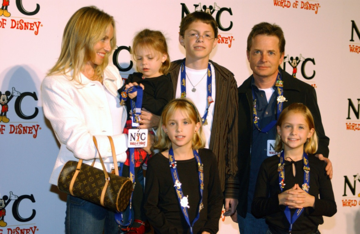michael j. fox family getty images