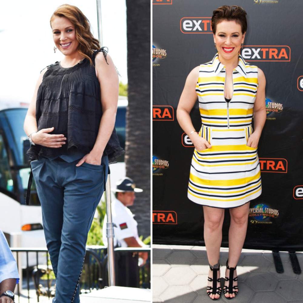 alyssa milano weight loss getty images