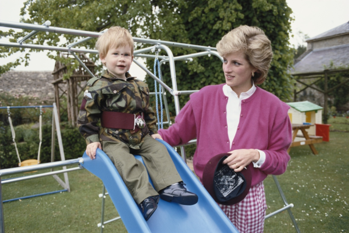 prince harry princess diana getty images