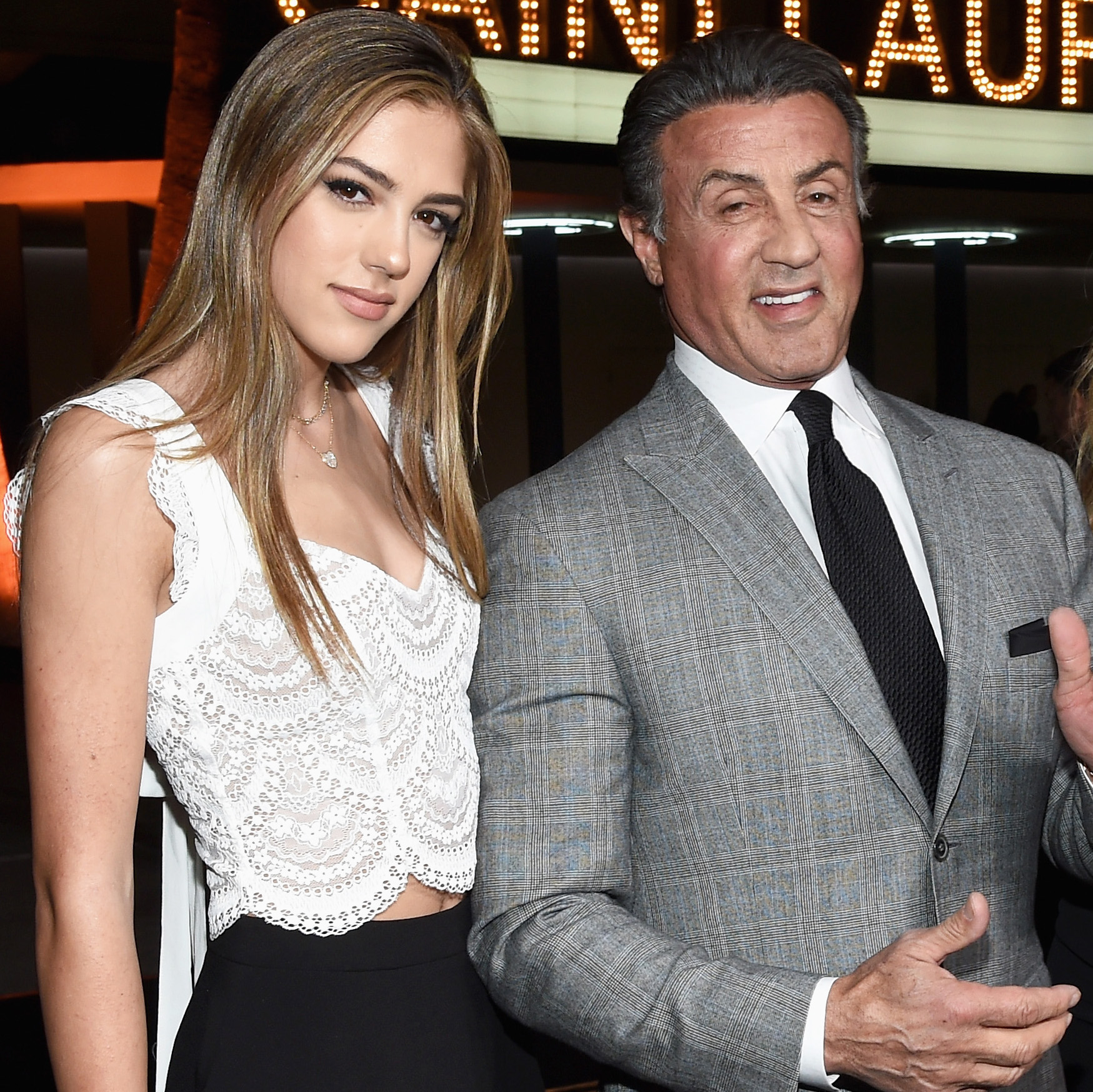 Sylvester Stallone's Daughter Sistine Named It Girl By ...