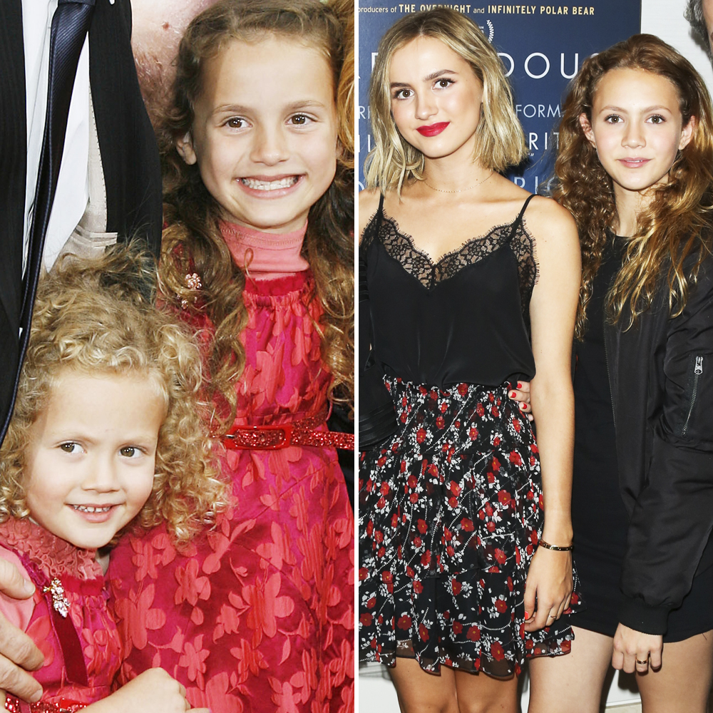 maude and iris apatow getty images
