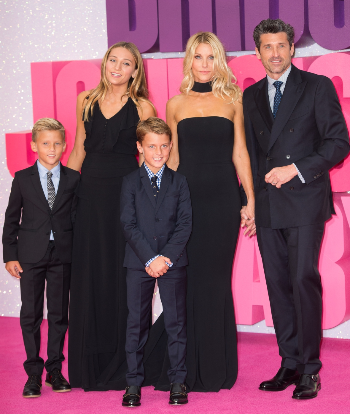 patrick dempsey family getty images