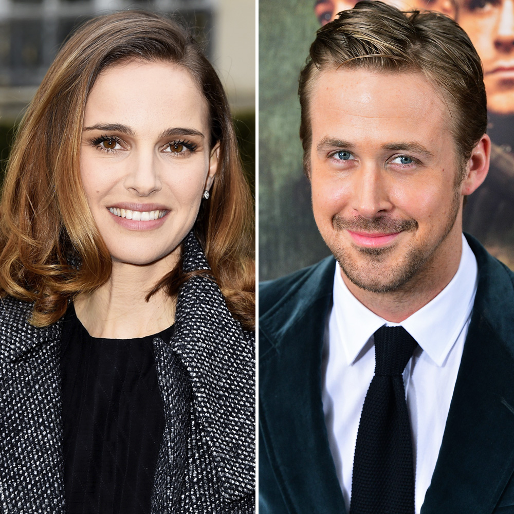 natalie portman ryan gosling getty images