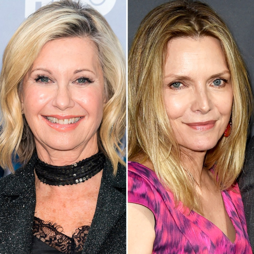 olivia newton-john michelle pfeiffer getty images