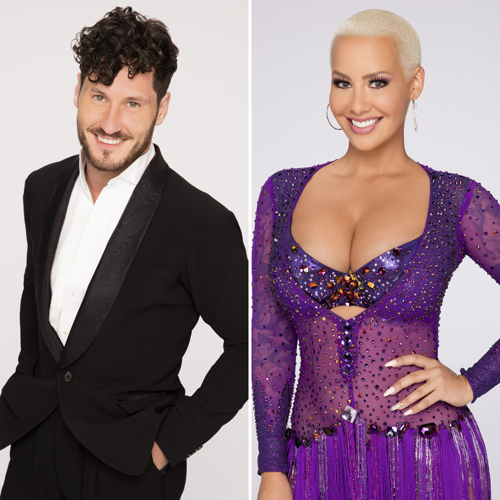 val chmerkovskiy amber rose getty images