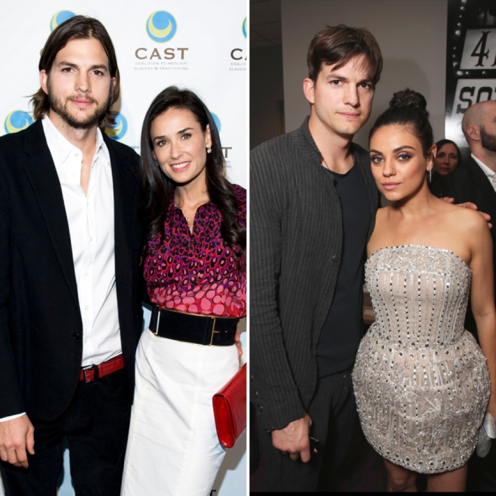 ashton kutcher demi moore mila kunis getty images