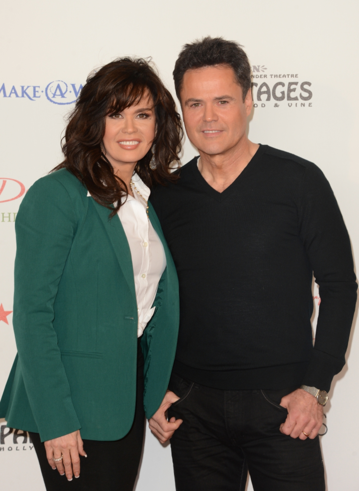 donny osmond marie osmond getty images