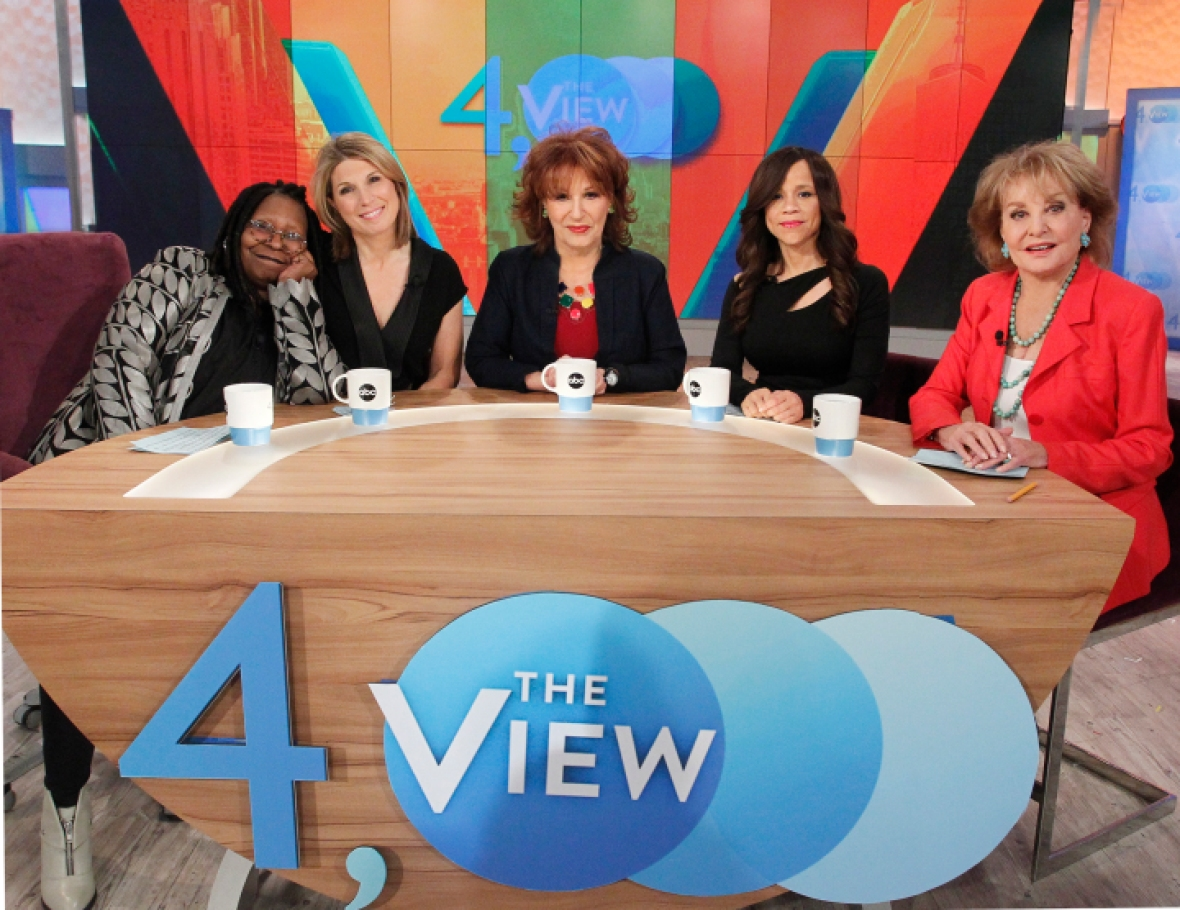barbara walters 'the view' getty images