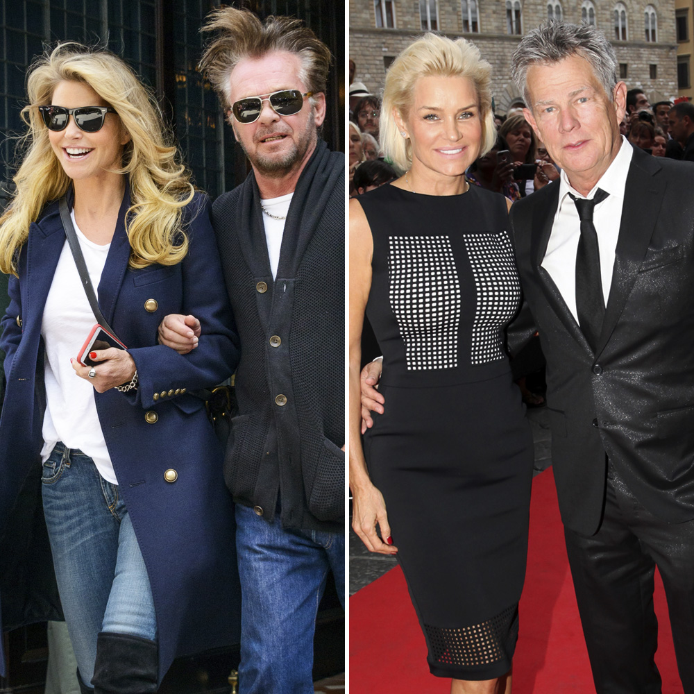 christie brinkley david foster getty images