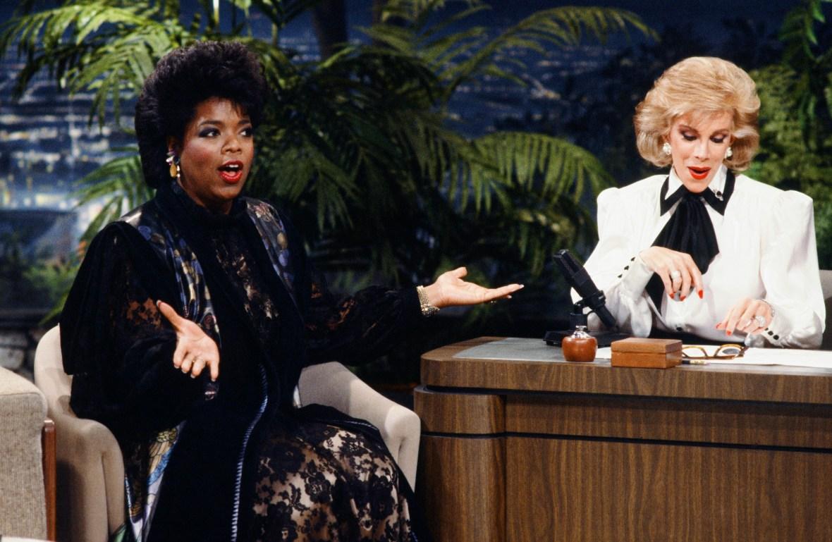 oprah winfrey joan rivers getty images